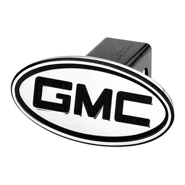 DefenderWorx® - Oval Hitch Cover with Inscribed GMC Logo