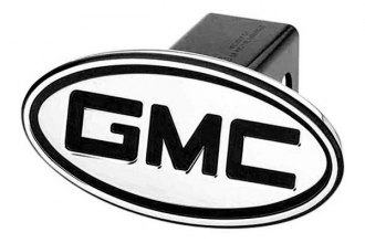 DefenderWorx® - GMC Style Black Hitch Cover - Inscribed GMC Style