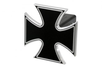 DefenderWorx® - Black Hitch Cover - Iron Cross Style