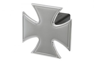 "DefenderWorx® - Polished Iron Cross Hitch Cover for 2"" Receiver"