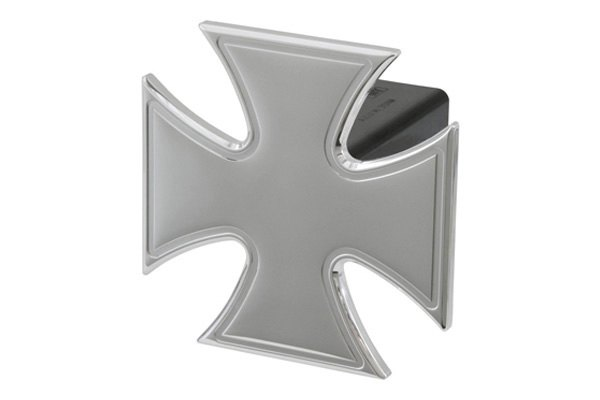 DefenderWorx® - Polished Hitch Cover - Iron Cross Style