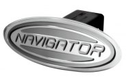 DefenderWorx® - Ford Style Silver Hitch Cover - Navigator Style