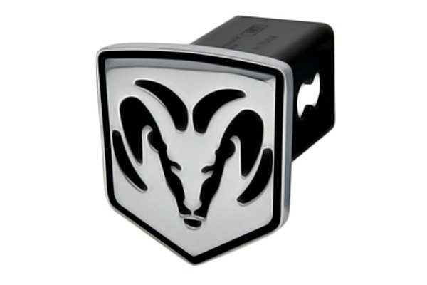 "DefenderWorx® - 2"" Dodge Ram Style Black Hitch Cover - Head Style"