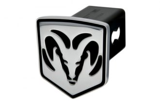 DefenderWorx® - 2 Dodge Ram Style Black Hitch Cover - Head Style
