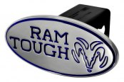 "DefenderWorx® - 2"" Dodge Ram Style Blue Hitch Cover - Tough Style"