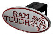 "DefenderWorx® - 2"" Dodge Ram Style Red Hitch Cover - Tough Style"