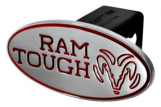 DefenderWorx® - 2 Dodge Ram Style Red Hitch Cover - Tough Style