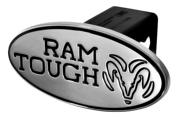 "DefenderWorx® - 2"" Dodge Ram Style Black Hitch Cover - Tough Style"