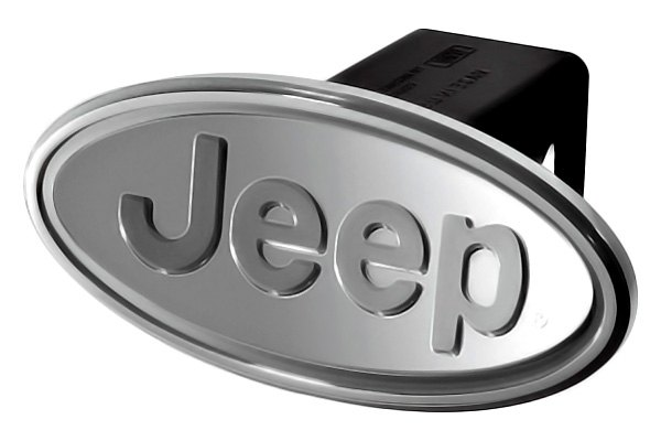"DefenderWorx® - Jeep Style Oval Silver Hitch Cover for 2"" Receiver"