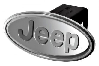 DefenderWorx® - Jeep Style Oval Silver Hitch Cover for 2 Receiver