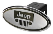 DefenderWorx® - Jeep Style Green Hitch Cover - Windshield Style