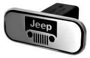 DefenderWorx® - Jeep Style Black Hitch Cover - Windshield Style