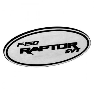 DefenderWorx® - Oval Hitch Cover with F-150 Raptor SVT Logo