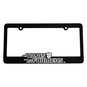 DefenderWorx® - Black License Plate Frame with Transformers™ Logo