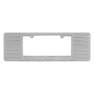 DefenderWorx® - Large License Plate Frame with Corvette Logo