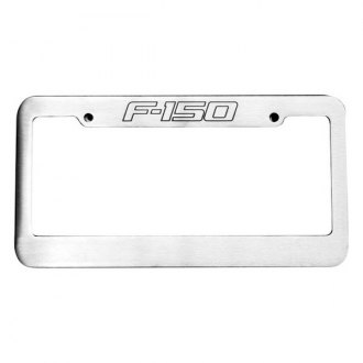 DefenderWorx® - Brushed License Plate Frame with F-150 Truck Logo
