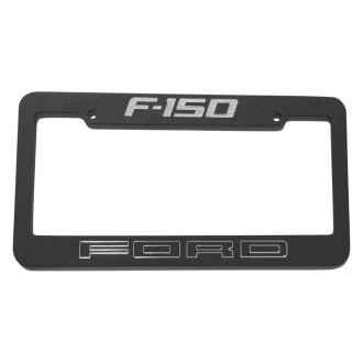 DefenderWorx® - Black License Plate Frame with Ford F-150 Logo