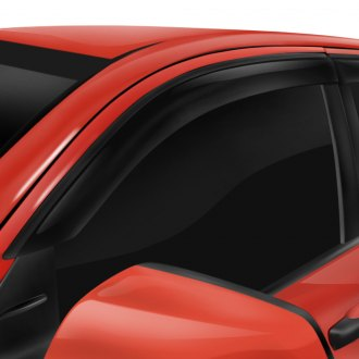 DefenderWorx® - Tape-On Albermo™ Black Front and Rear Side Window Visors