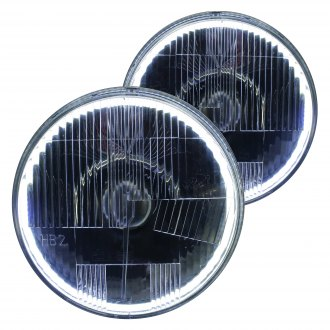 "Delta Lights® - 7"" Round Chrome Halo LED Factory Style Composite Headlights with Turn Signal"