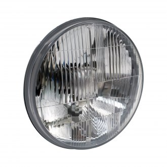 "Delta Lights® - 7"" Round Chrome Euro Headlights with LED Turn Signal"