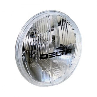 "Delta Lights® - 7"" Round Chrome Euro Headlights with LED Parking Lights"