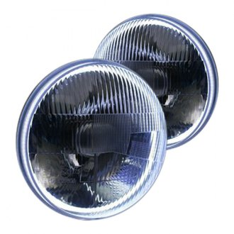 "Delta Lights® - 7"" Round Chrome Halo LED Factory Style Composite Headlights"