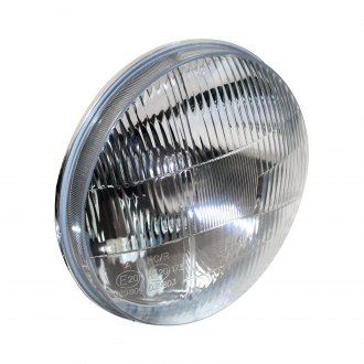 "Delta Lights® - 7"" Round Chrome Factory Style Composite Headlights with LED DRL"