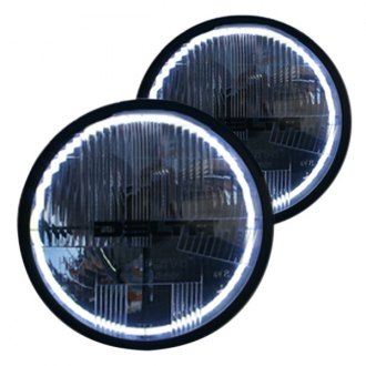 "Delta Lights® - Quad-bar™ 7"" Round Chrome LED Halo Euro Headlights with Turn Signals"