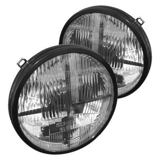 "Delta Lights® - Quad-bar™ 7"" Round Chrome LED Euro Headlights with DRL"