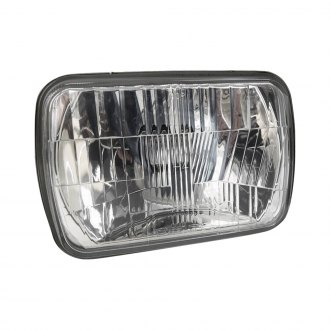 "Delta Lights® - 7x6"" Rectangular Chrome Euro Headlights"