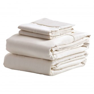 denver mattress ivory sateen standard king sheet set - Denver Mattress