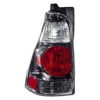 Depo® - Driver Side Black/Red Euro Tail Light