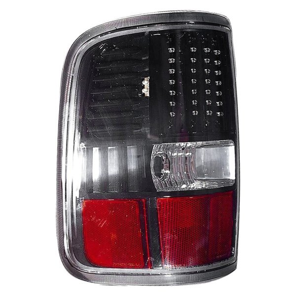 Depo® - Driver Side Black/Red LED Tail Light