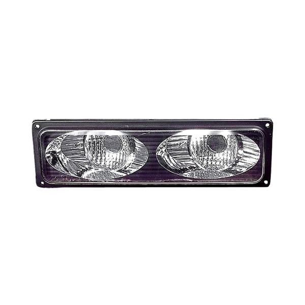Depo 3321685pxus2 Twin Eyes Type Driver And Penger Side Black Chrome Euro Turn Signal Parking Lights