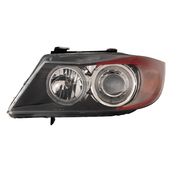 Depo® - Driver and Passenger Side Black Halo Projector Headlights