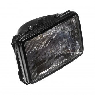"Depo® - Replacement 4x6"" Rectangular Chrome Headlight"