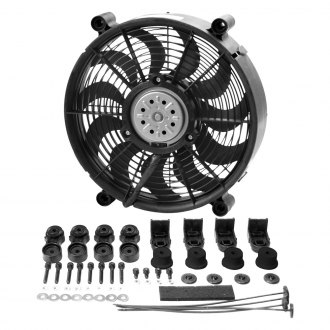Derale Performance® - High Output Single Radiator Pusher/Puller Fan with Premium Mount Kit