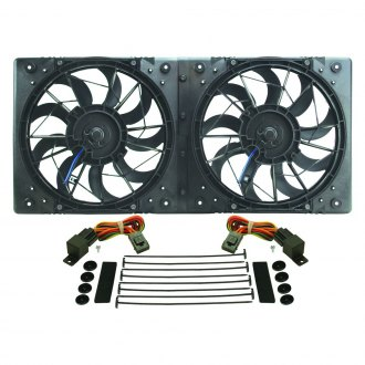 Derale Performance® - High Output Dual Radiator Electric Fan with Molded Shroud
