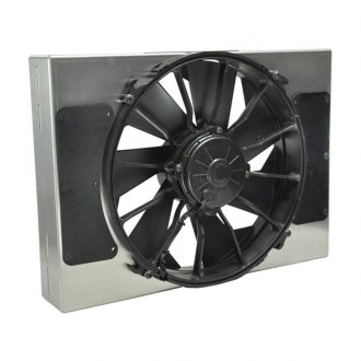 Derale Performance® - Single Electric Radiator Fan with Aluminum Shroud Kit