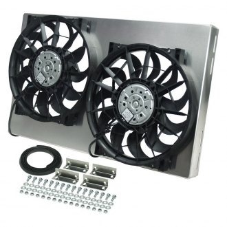 Derale Performance® - Dual Electric Radiator Fan with Aluminum Shroud Kit