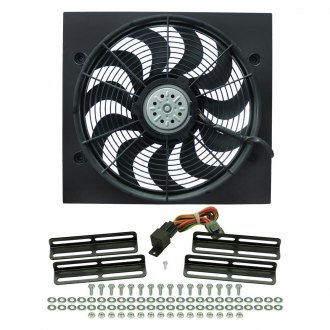 Derale Performance® - Single Electric Fan with Black Steel Shroud Kit