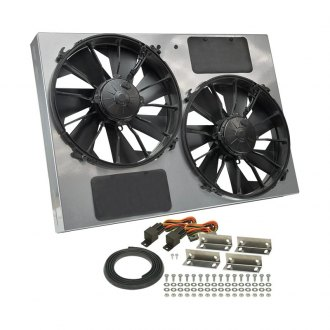 Derale Performance® - Dual Electric Radiator Fan with Powdercoated Steel Shroud Kit
