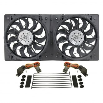 Derale Performance® - Dual Electric Radiator Fan with Plastic Shroud Kit