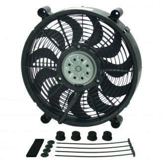 Derale Performance® - High Output Single Radiator Pusher/Puller Fan with Standard Mount Kit