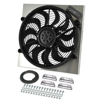 Derale Performance® - Single Electric Radiator Fan/Aluminum Shroud Kit