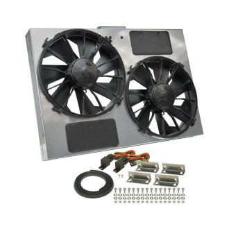 Derale Performance® - Dual Electric Radiator Fan with Steel Shroud