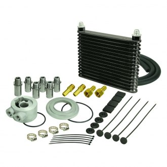 Derale Performance® - Series 8000 Plate and Fin Engine Oil Cooler Kit