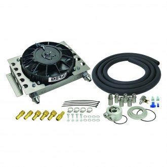 Derale Performance® - Atomic Cool Plate and Fin Remote Oil Cooler Kit