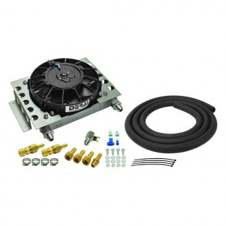 Derale Performance® - 15 Row Atomic Cool Plate and Fin Remote Transmission Cooler Kit