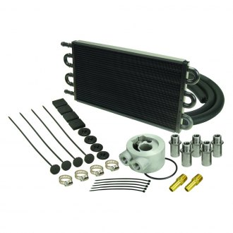 Derale Performance® - 6 Pass Series 7000 Aluminum/Copper Replacement Engine Oil Cooler